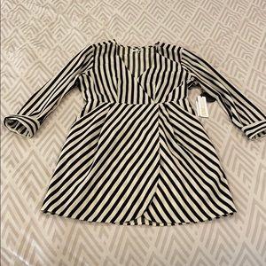 Amuse Society striped wrap dress